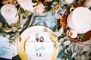 Tischdekoration Braut