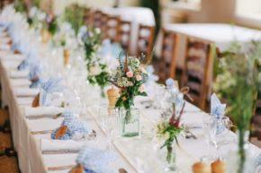 Tischdekoration Blumen